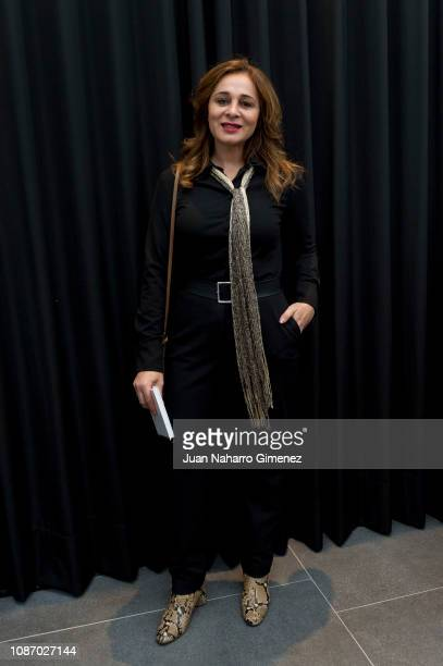 Ana Maria Aldon attends the Jesus Lorenzo fashion show during the Mercedes Benz Fashion Week Autumn/Winter 20192020 at ISEM on January 23 2019 in...