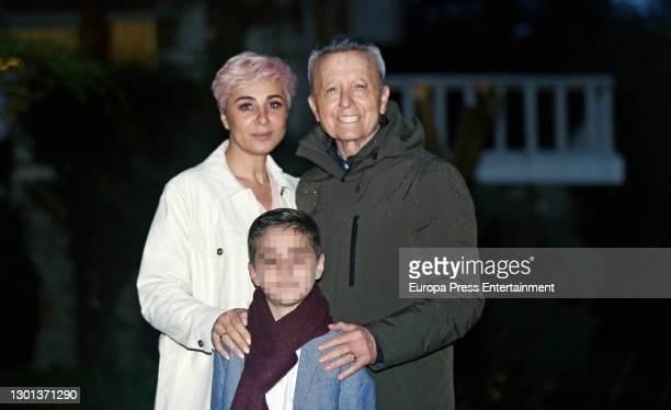 Ana Maria Aldon, Jose Ortega Cano Aldon and Jose Ortega Cano attend a lunch on February 09, 2021 in Madrid, Spain.