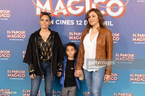 Ana Maria Aldon y Gloria Camila during the premiere of the animated film 'El Parque Magico' at the Capitol cinema in Madrid Spain on March 30 2019