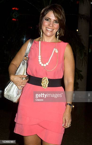 Ana Maria Alvarado attends at the Derecho de Admision tv show party for the fourth anniversary at Marriot Hotel on July 6 2010 in Mexico City Mexico