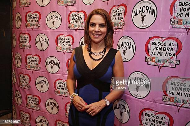 Ana Maria Alvarado poses during the commemoration of the 400 performances of the play Busco al Hombre de mi Vida Marido ya Tuve at Teatro Arlequin on...