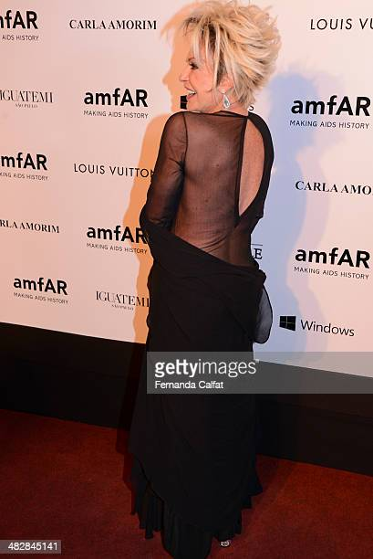 Ana Maria Braga attends amfAR's Inspiration Gala Sao Paulo on April 4 2014 in Sao Paulo Brazil