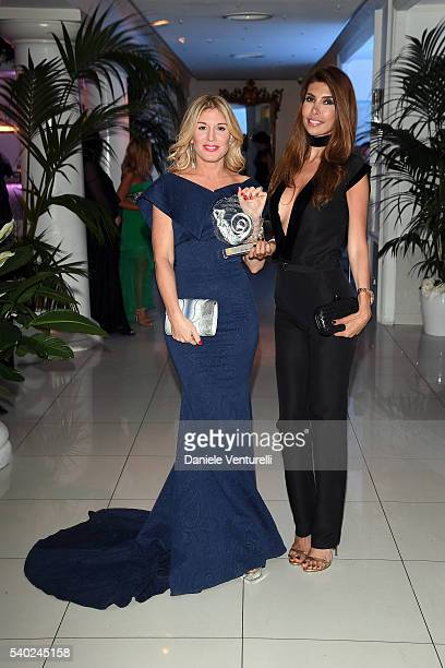 Ana Maria Folostina and Hofit Golan attend 62 Taormina Film Fest Gala Dinner Day 4 on June 14 2016 in Taormina Italy