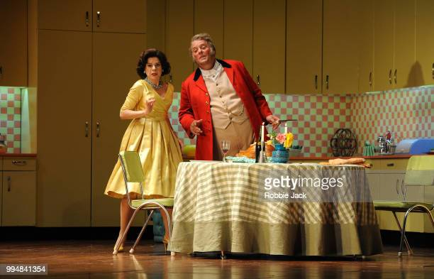 Ana Maria Martinez as Alice Ford and Bryn Terfel as Sir John Falstaff in the Royal Opera's production of Giuseppe Verdi's Falstaff directed by Robert...