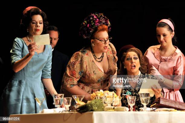 Ana Maria Martinez as Alice Ford MarieNicole Lemieux as Mistress Quickly Marie McLaughlin as Meg Page and Anna Prohaska as Nannetta in the Royal...