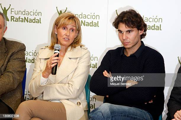 Ana Maria Parera and Rafa Nadal attend the presentation Integracion y Deporte on December 14 2011 in Barcelona Spain