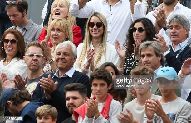 Ana Maria Parera and Sebastian Nadal parents of Rafael Nadal his sister Maria Isabel Nadal his girlfriend Xisca Perello during the trophy ceremony of...
