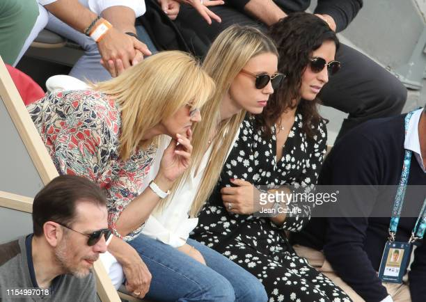 Ana Maria Parera mother of Rafael Nadal his sister Maria Isabel Nadal his girlfriend Xisca Perello during the trophy ceremony of the men's final...