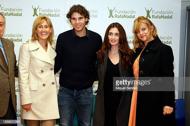 Ana Maria Parera Rafa Nadal Paz Vega and Nastassja Kniski attend the presentation 'Integracion y Deporte' on December 14 2011 in Barcelona Spain