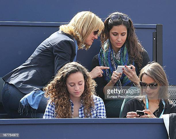 Ana Maria Perera and Xisca Perello attend Conde Godo Tennis Tournament on April 28 2013 in Barcelona Spain