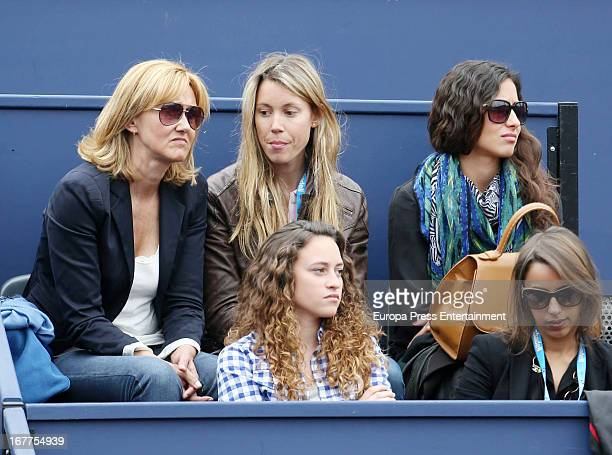 Ana Maria Perera Maria Isabel Nadal and Xisca Perello attend Conde Godo Tennis Tournament on April 28 2013 in Barcelona Spain