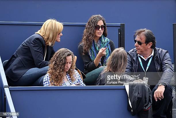 Ana Maria Perera Xisca Perello and Sebastian Nadal attend Conde Godo Tennis Tournament on April 28 2013 in Barcelona Spain