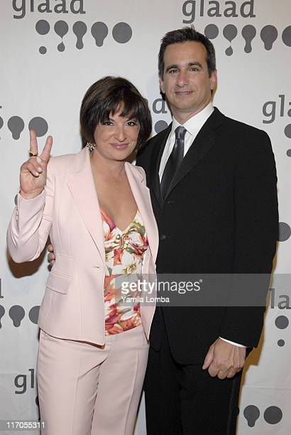 Ana Maria Polo and Neil Giuliano during 18TH ANNUAL GLAAD MEDIA AWARDS Miami at JW Marriott in Miami Florida United States