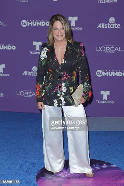 Ana Maria Polo arrives at Telemundo's 2017 'Premios Tu Mundo' at American Airlines Arena on August 24 2017 in Miami Florida