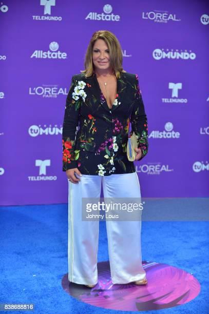 Ana Maria Polo arrives at Telemundo's 2017 'Premios Tu Mundo' at American Airlines Arena on August 24 2017 in Miami Florida