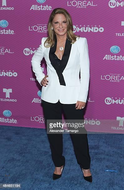 Ana Maria Polo arrives at Telemundo's 'Premios Tu Mundo Awards' at American Airlines Arena on August 20 2015 in Miami Florida