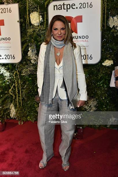 Ana Maria Polo attends Telemundo NATPE party on January 19 2016 in Miami Beach Florida