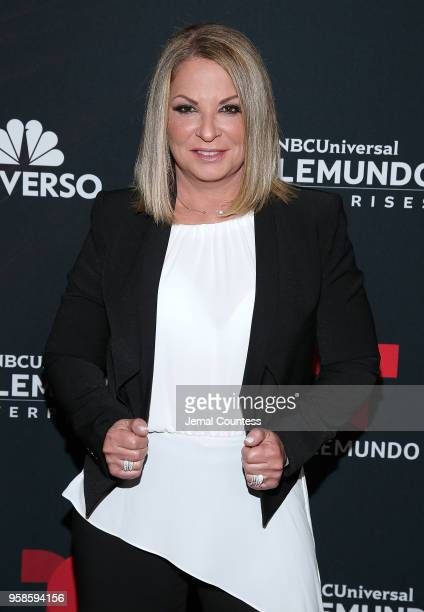Ana Maria Polo attends the 2018 Telemundo Upfront at the Park Avenue Armory on May 14 2018 in New York City