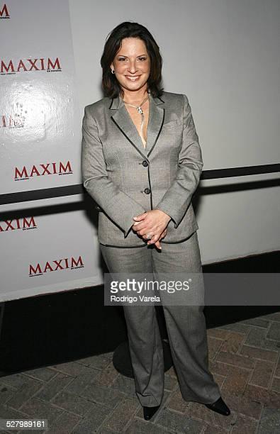 Ana Maria Polo during Maxim en Espanol Fourth Anniversary Party at Glass in Miami Beach Florida United States