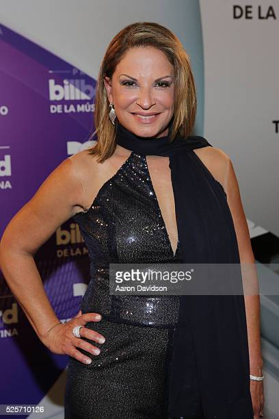 Ana Maria Polo poses backstage at the Billboard Latin Music Awards at Bank United Center on April 28 2016 in Miami Florida