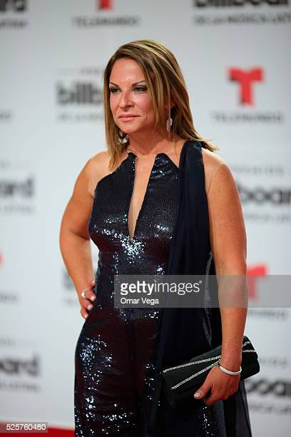 Ana Maria Polo poses during the red carpet of Billboard Latin Music Awards 2016 at Bank United Center on April 28 2016 in Miami United States