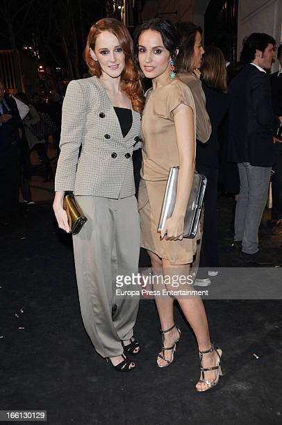 Ana Maria Polvorosa and Veronica Echegui attend Emporio Armani boutique opening on April 8, 2013 in Madrid, Spain.