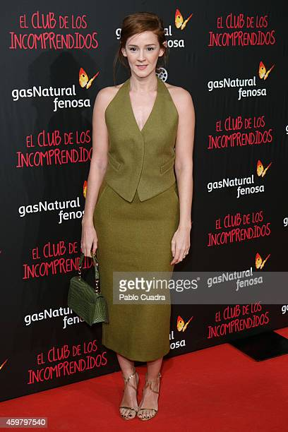 Ana Maria Polvorosa attends 'El Club de los Incomprendidos' Premiere on December 1 2014 in Madrid Spain