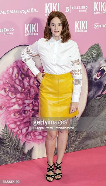 Ana Maria Polvorosa attends 'Kiki el amor se hace' premiere at Capitol cinema on March 30 2016 in Madrid Spain