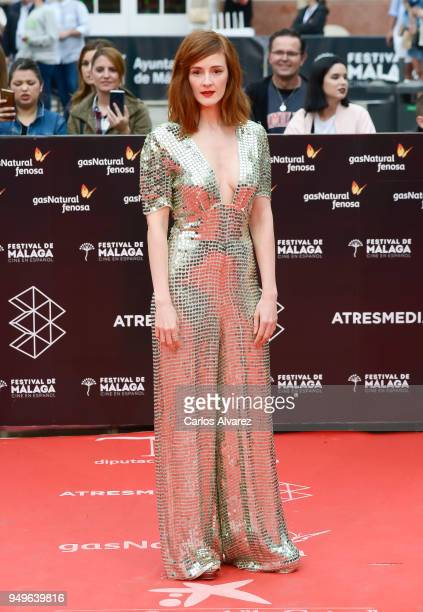 Ana Maria Polvorosa attends the 21th Malaga Film Festival closing ceremony at the Cervantes Teather on April 21 2018 in Malaga Spain