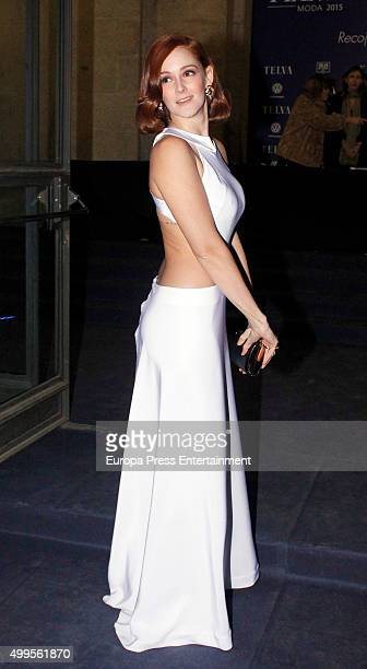 Ana Maria Polvorosa attends XXV Telva Fashion Awards 2015 at the Royal Theatre on December 1 2015 in Madrid Spain