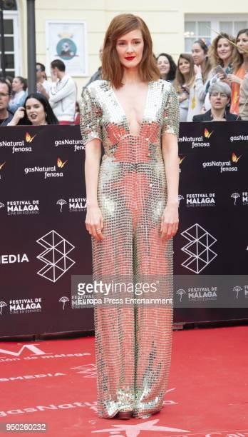 Ana Maria Polvorosa during the 21th Malaga Film Festival closing ceremony at the Cervantes Teather on April 21 2018 in Malaga Spain