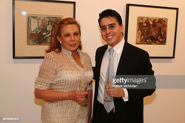 Ana Maria Vasquez and Javier Mikio Tamura attend Opening of an Exhibition of works by JOSE CLEMENTE OROZCO at Maya Stendhal Gallery on April 27 2006...