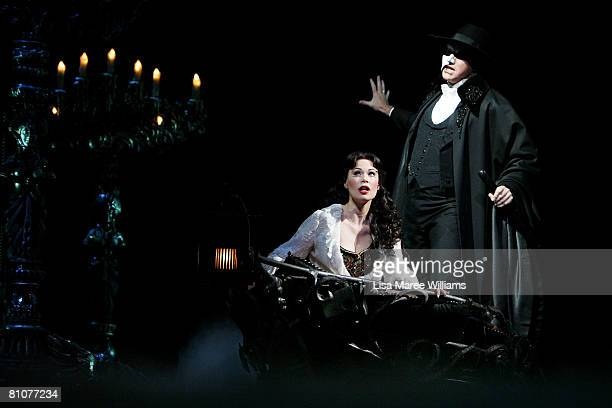 Ana Marina and Anthony Warlow perform on stage during a media call for The Phantom of the Opera at the Lyric Theatre on May 14 2008 in Sydney...