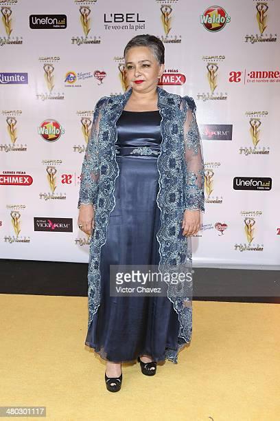 Ana Martín attends the Premios Tv y Novelas 2014 at Televisa Santa Fe on March 23 2014 in Mexico City Mexico
