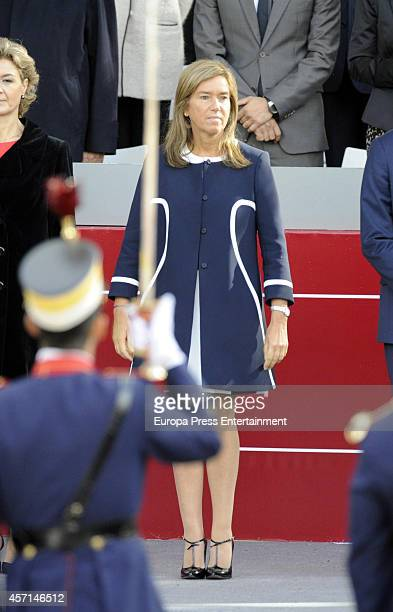 Ana Mato attends the National Day Military Parade on October 12 2014 in Madrid Spain