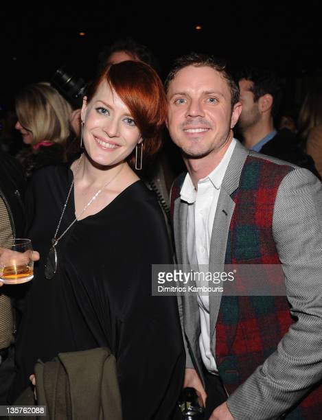 Ana Matronic and Jake Shears attend the after party for the Giorgio Armani Cinema Society screening of 'Albert Nobbs' at the Armani Ristorante on...
