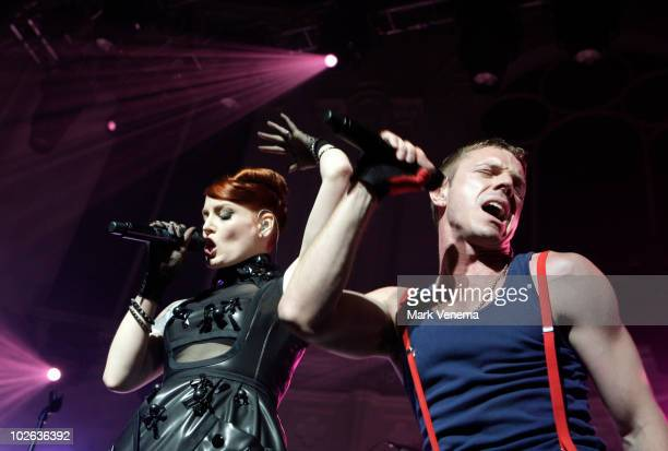 Ana Matronic and Jake Shears of Scissor Sisters perform live at Paradiso on July 5 2010 in Amsterdam Netherlands