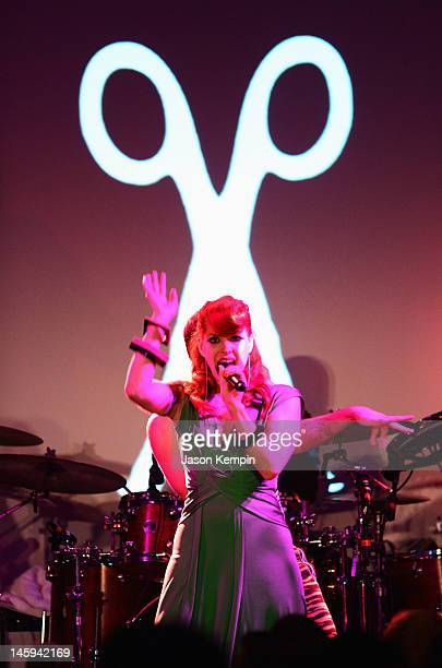 Ana Matronic and the band Scissor Sisters perform during the 3rd annual amfAR Inspiration Gala New York at The New York Public Library Stephen A...