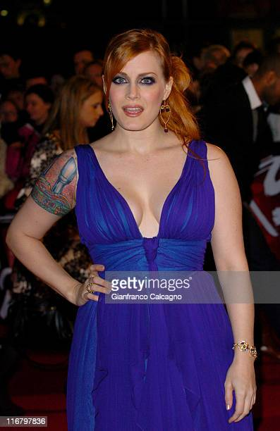 Ana Matronic during The Mastercard Brit Awards 2007 Outside Arrivals at Earls Court in London Great Britain