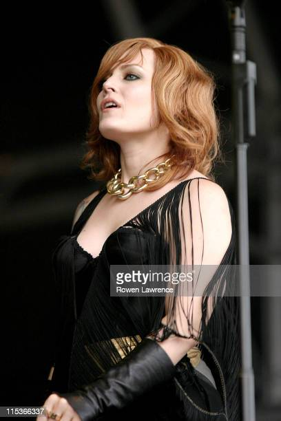Ana Matronic of Scissor Sisters during 2004 V Festival Stafford Day 1 at Weston Park in Stafford Great Britain