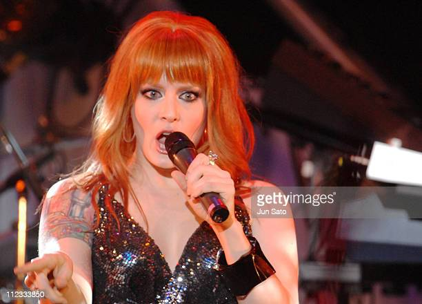 Ana Matronic of Scissor Sisters during MTV Mergic Jam 2006 with 'WALKMAN' at The Garden Hall in Tokyo Japan