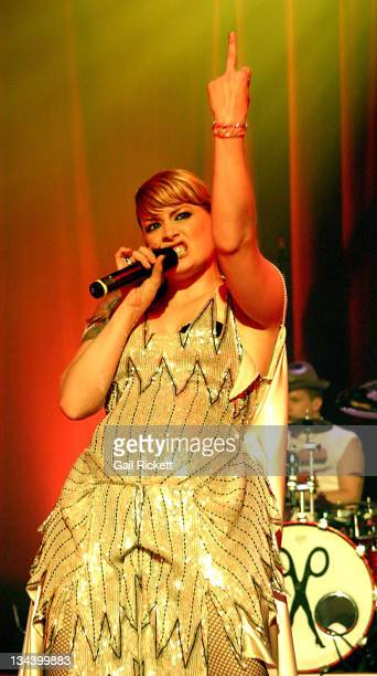 Ana Matronic of Scissor Sisters during Scissor Sisters in Concert October 23 2004 at Apollo Manchester in Manchester Great Britain