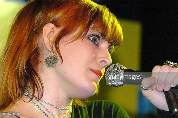 Ana Matronic of Scissor Sisters during Scissor Sisters InStore Performance of 'Comfortably Numb' February 2 2004 at The Virgin Megastore in London...