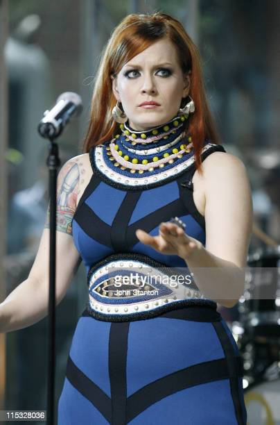 Ana Matronic of Scissor Sisters during The Scissor Sisters Perform Channel 7's Sunrise February 5 2007 at Channel 7 Studios in Sydney Australia