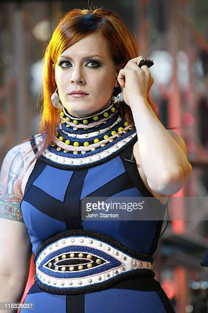 Ana Matronic of Scissor Sisters during The Scissor Sisters Perform Channel 7's 'Sunrise' February 5 2007 at Channel 7 Studios in Sydney NSW Australia