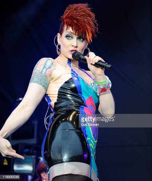 Ana Matronic of Scissor Sisters performs on stage during the third day of Lovebox at Victoria Park on July 17 2011 in London United Kingdom