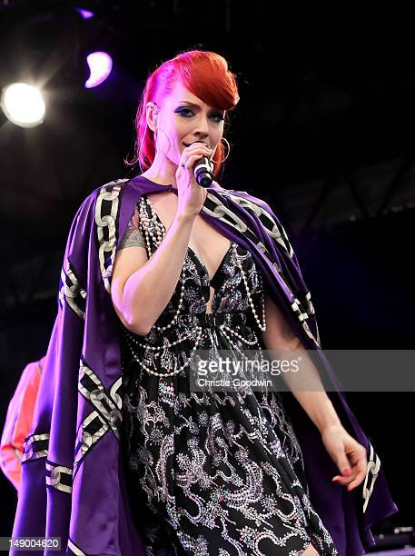 Ana Matronic of Scissor Sisters performs on the America stage on Day 1 of BT River Of Music Festival at Tower of London on July 21 2012 in London...