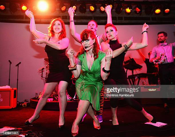 Ana Matronic of the band Scissor Sisters performs during the 3rd annual amfAR Inspiration Gala New York at The New York Public Library Stephen A...