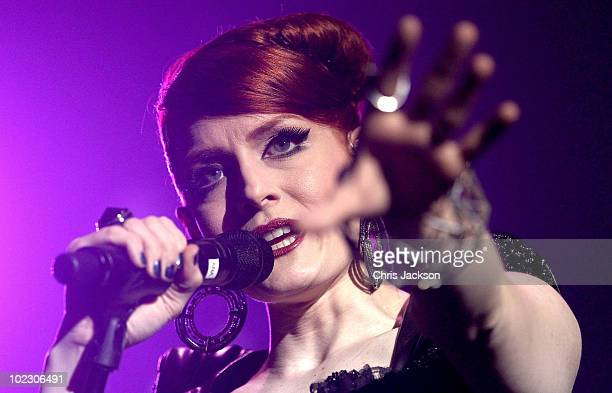 Ana Matronic of the Scissor Sisters performs at Brixton Academy on June 22 2010 in London England
