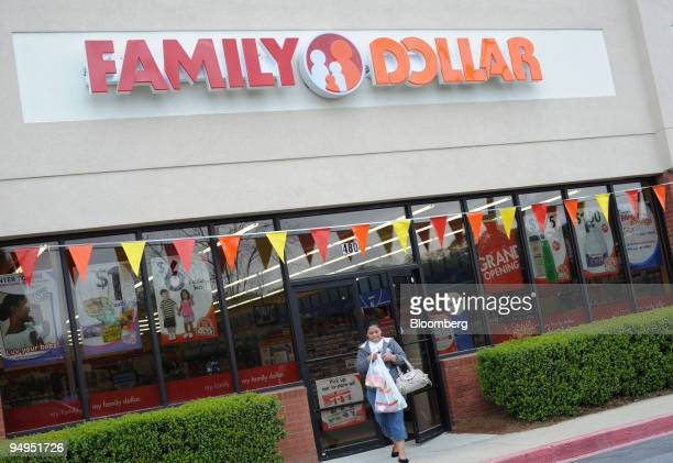 Ana Meija walks out of at a Family Dollar store in Norcross Georgia US on Tuesday April 7 2009 Family Dollar is due to report earnings tomorrow